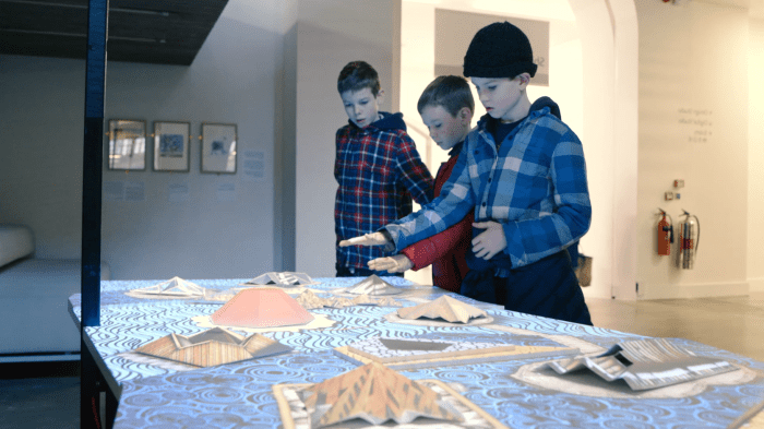 V&A Digital Samsung Interactive Table Digital Projection Mapping Visitors use
