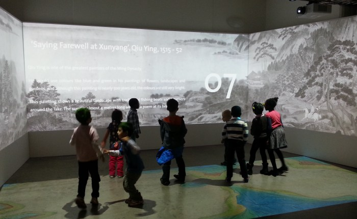 Digital Dragons Masterpieces of Chinese Painting YP and Children Qiu Ying farewell at Xunyan