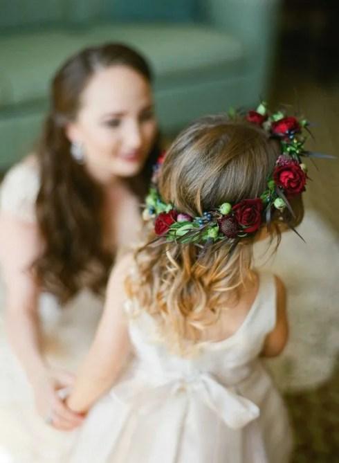 damigella sposa con coranica autunnale