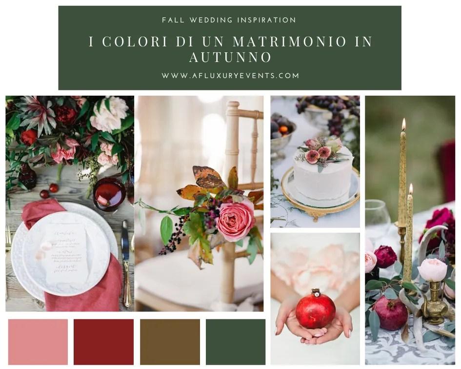 sposarsi in autunno moodboard colori