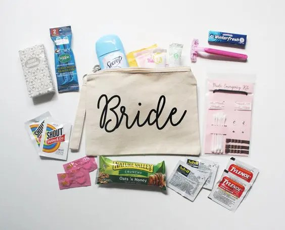 Bride emergency kit