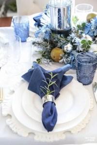 tovagliolo classic blue per tavola nozze