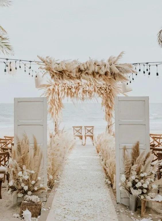 allestimento total dried cernia wedding day sulla spaiggia
