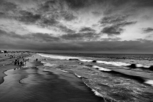 A storm approaches Venice Beach