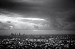 Downtown L.A. before the rain