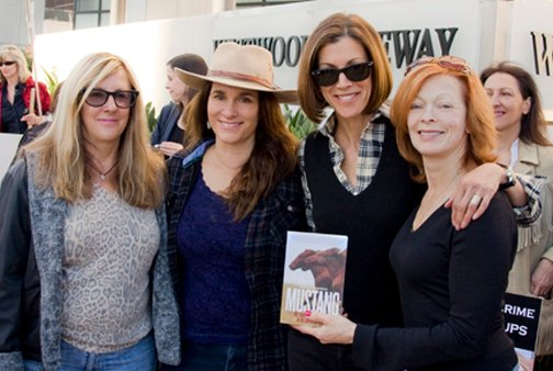 Deanne Stillman, left, with Neda de Mayo, Wendie Malick and Frances Fisher Photo: Bristol MacDonald