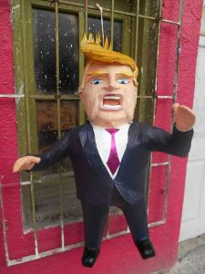 Donald Trump piñata created by Dalton Junior Ramirez