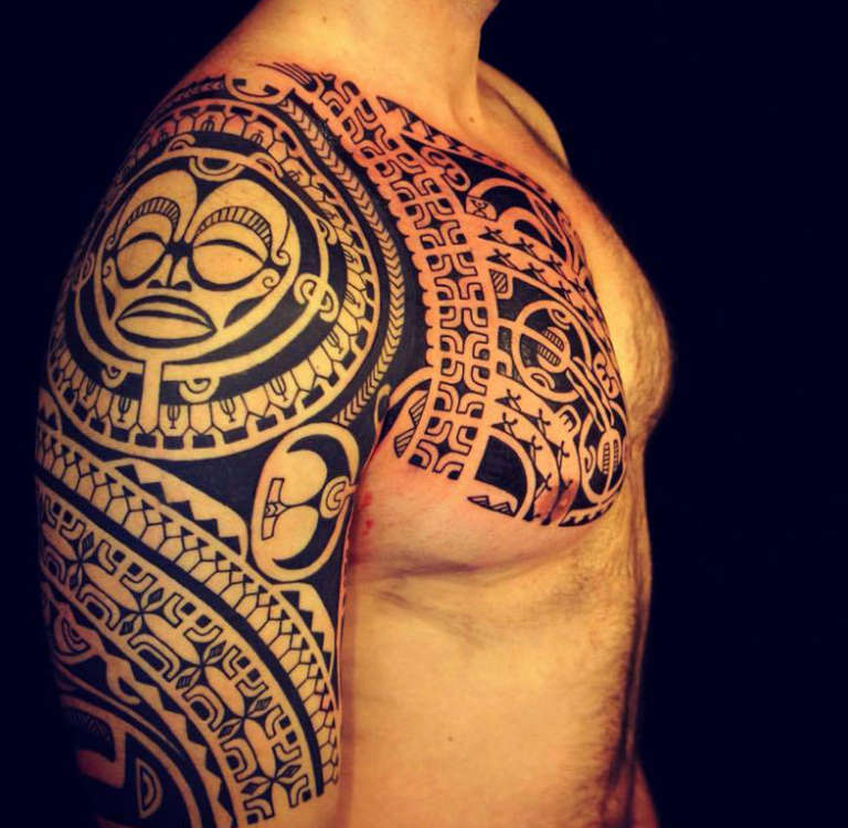 фото тату полинезия на предплечье заказать