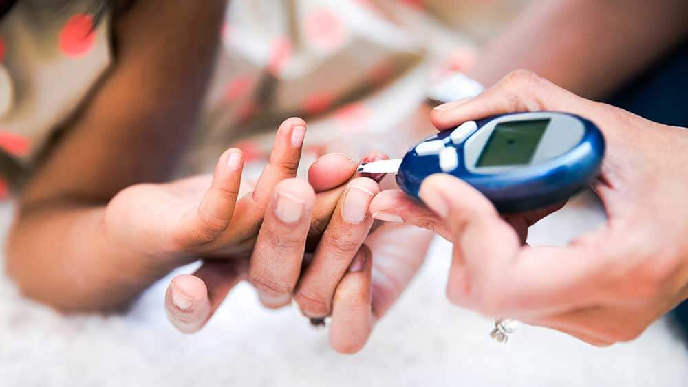 Hypoglycemia (low blood sugar) with diabetes