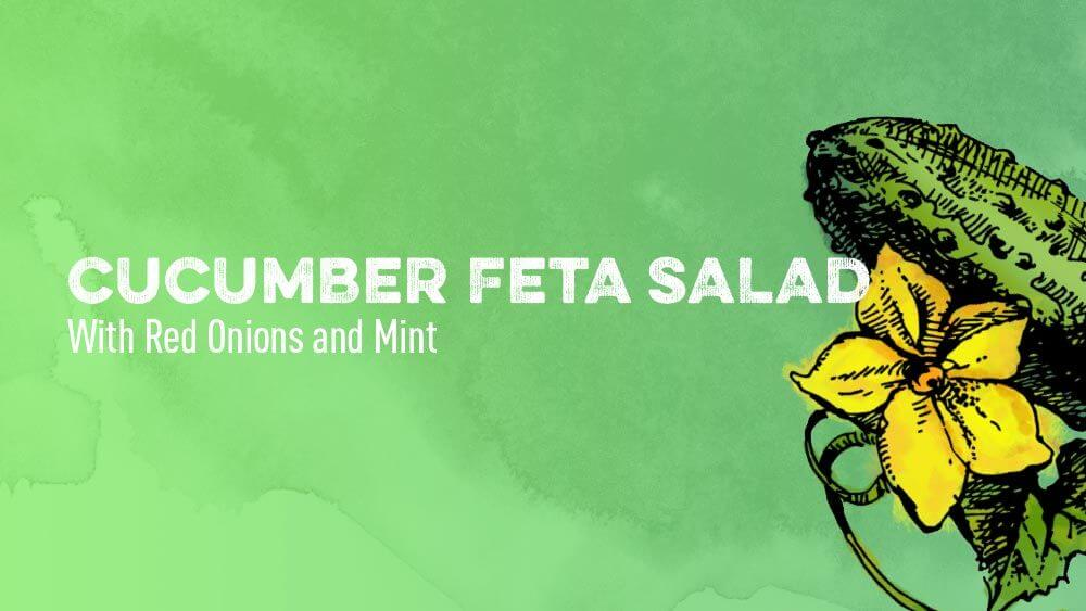 Cucumber Feta Salad With Red Onions and Mint
