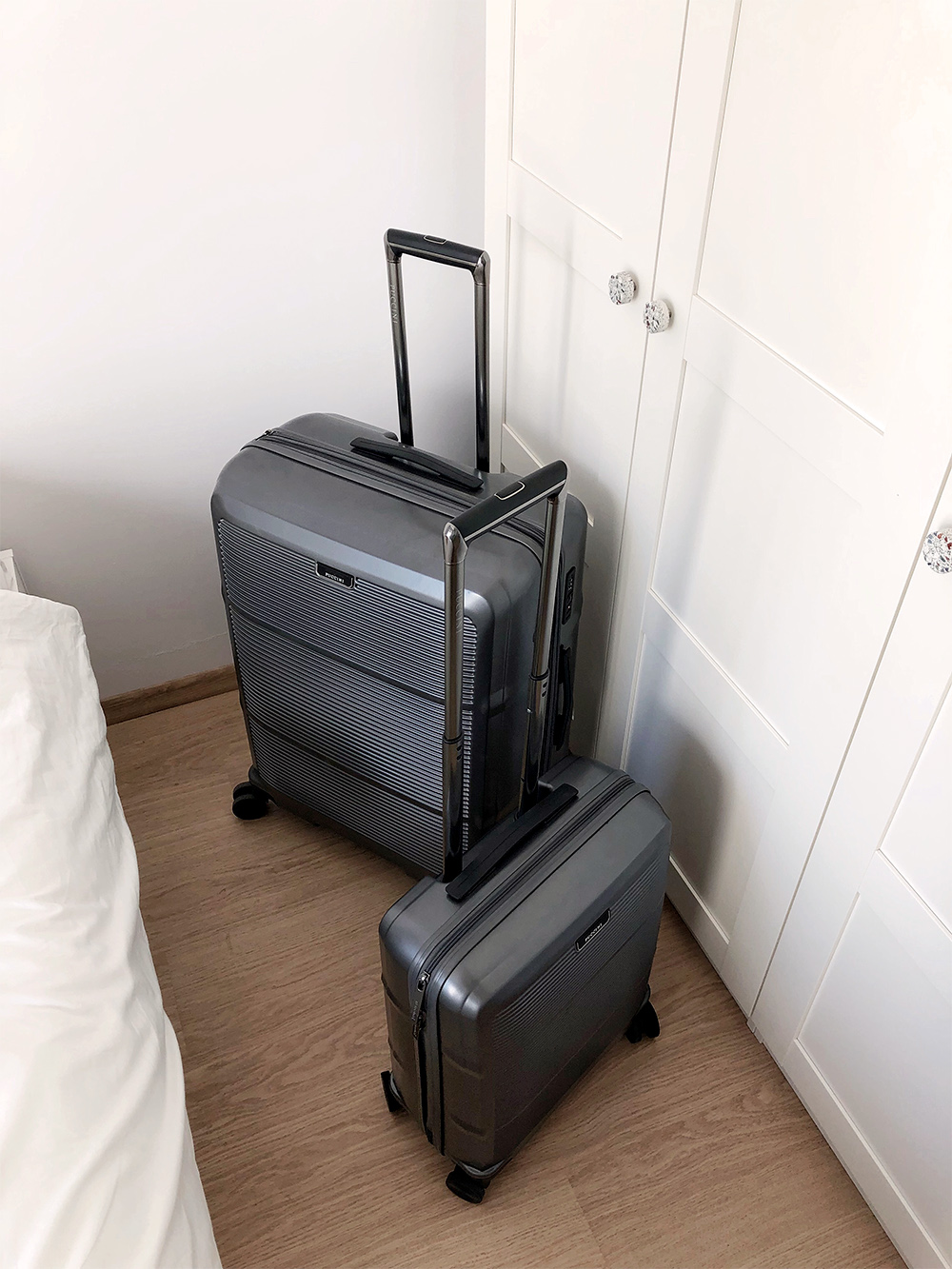Puccini suitcases ready for holiday