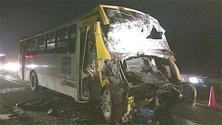 Choque de autobús de pasajeros deja 35 heridos en Edomex