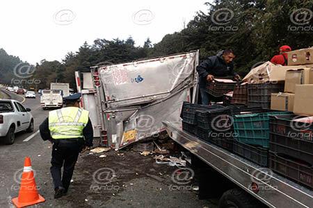 No se reportaron heridos por el accidente.
