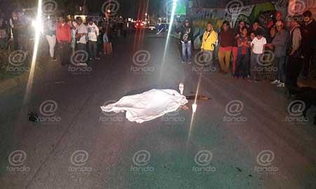 Testigos afirmaron que el hombre no se fijó al cruzar.