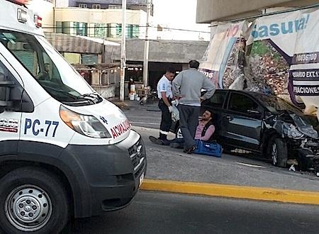 El Choque fue a la altura del fraccionamiento Las Alamedas, en Atizapán.