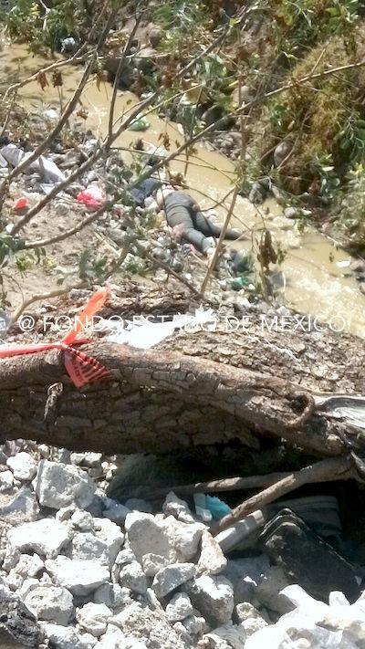 FEMINICIDIO #55: Asesinan de un tiro a mujer y arrojan su cuerpo a canal de Ecatepec