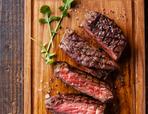 Pomegranate Mint Grilled Steak