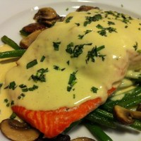 Baked Salmon with a Creamy Mustard Sauce
