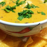 Chile Con Queso with Smoky Chipotles - Hot Cheese Dip with a Kick!