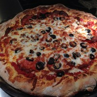 Perfect Pepperoni Pizza with Black Olives