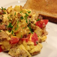 Smoked Pork and Egg Scramble