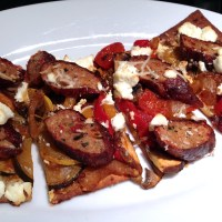Smoky Vegetable Sausage Flatbread