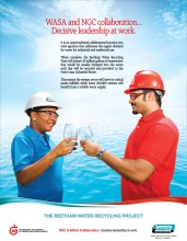 NGC Advertisement for Beetham Water Recycling Project – Decisive Leadership | March 2014