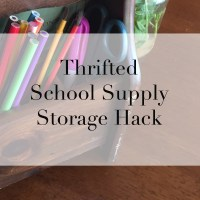 Thrifted School Supply Hack!