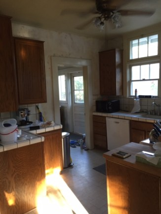 kitchen with old light fixture
