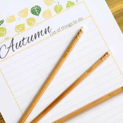 AUTUMN LIST OF THINGS TO DO