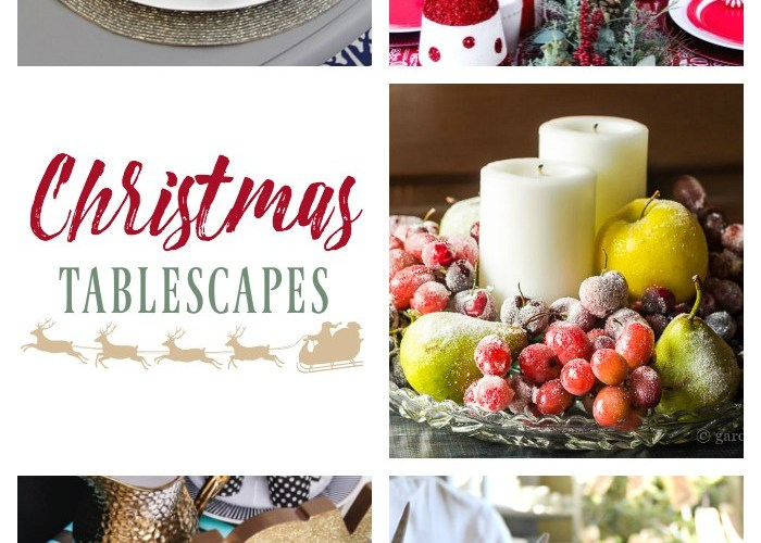 CHRISTMAS TABLESCAPES + LINK PARTY 178
