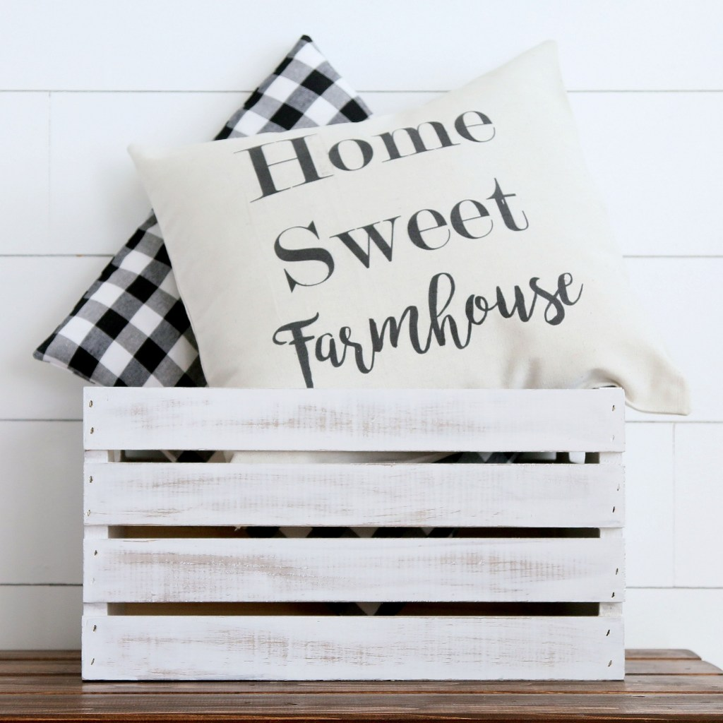 Farmhouse style pillows are a perfect way to perk up your living room. They are simple and inexpensive to make.Click on over to my farmhouse pillow tutorial. FARMHOUSE PILLOW FUN: A TUTORIAL