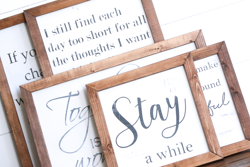 There is a new set of Farmhouse Style Wood Signs in my shop!  These are perfect for adding a farmhouse touch to your living room, or anywhere in your home!  FARMHOUSE STYLE WOOD SIGNS