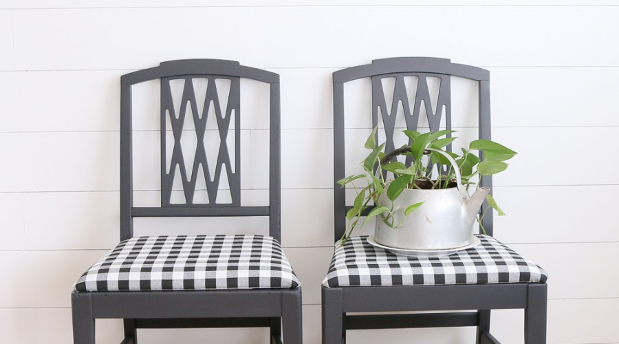 MODERN FARMHOUSE GINGHAM CHAIRS