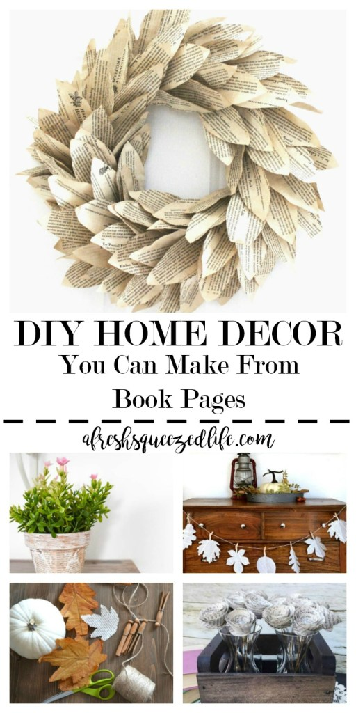 Home Decor touches can be made from just about anything, and book pages are now in the mix! Let me show you the cutest DIY home decor from book pages! DIY HOME DECOR YOU CAN MAKE FROM BOOK PAGES