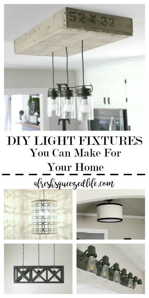 Did you know you can make your own light fixtures or modify the ones you  have