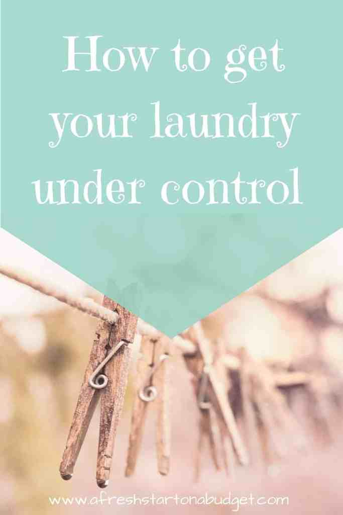 How to get your laundry under control
