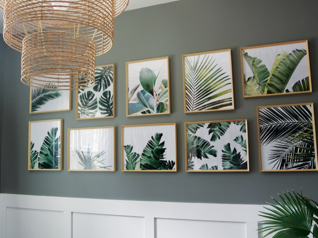 Tropical Palm Prints - Gallery Wall