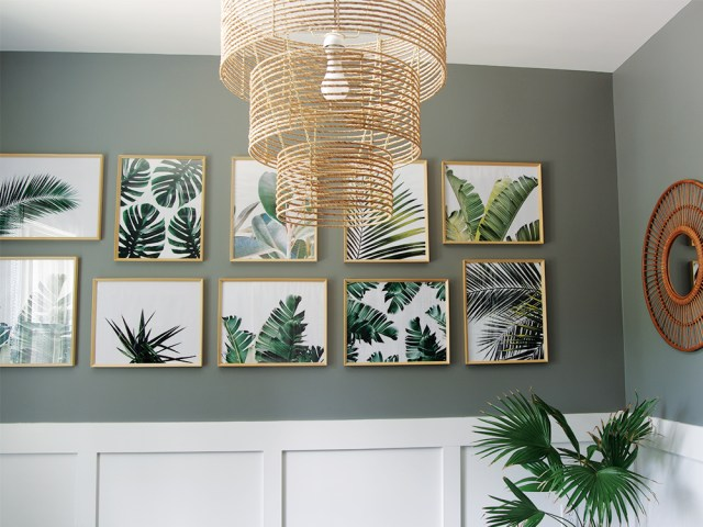 Tropical Palm Prints Gallery Wall