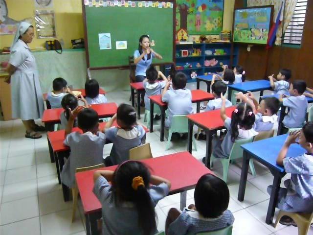 ボランティアを行ったマニラ・カインギンにあるカトリック教会の運営している幼稚園