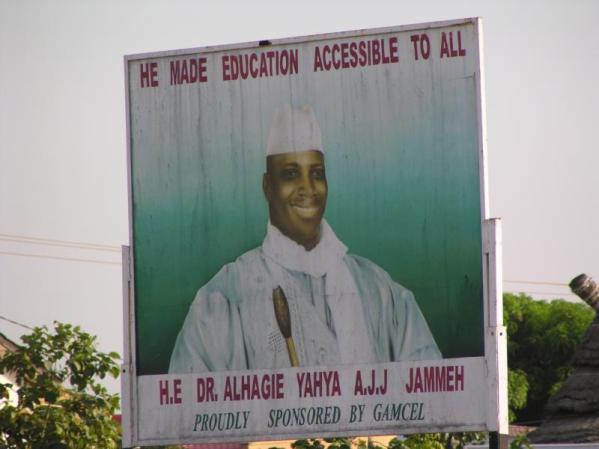 Gamcel sponsored poster promoting Jammeh