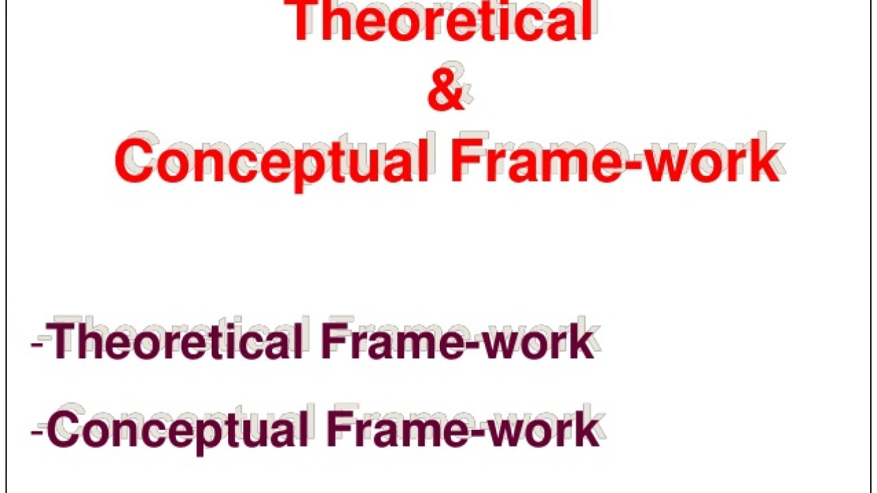 Theoretical and conceptual framework in thesis what causes sibling rivalry essay