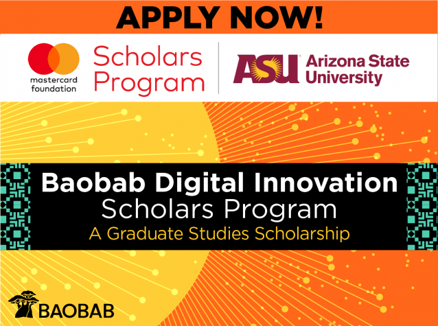 Mastercard Foundation Arizona State University Baobab Digital Innovation Scholarship