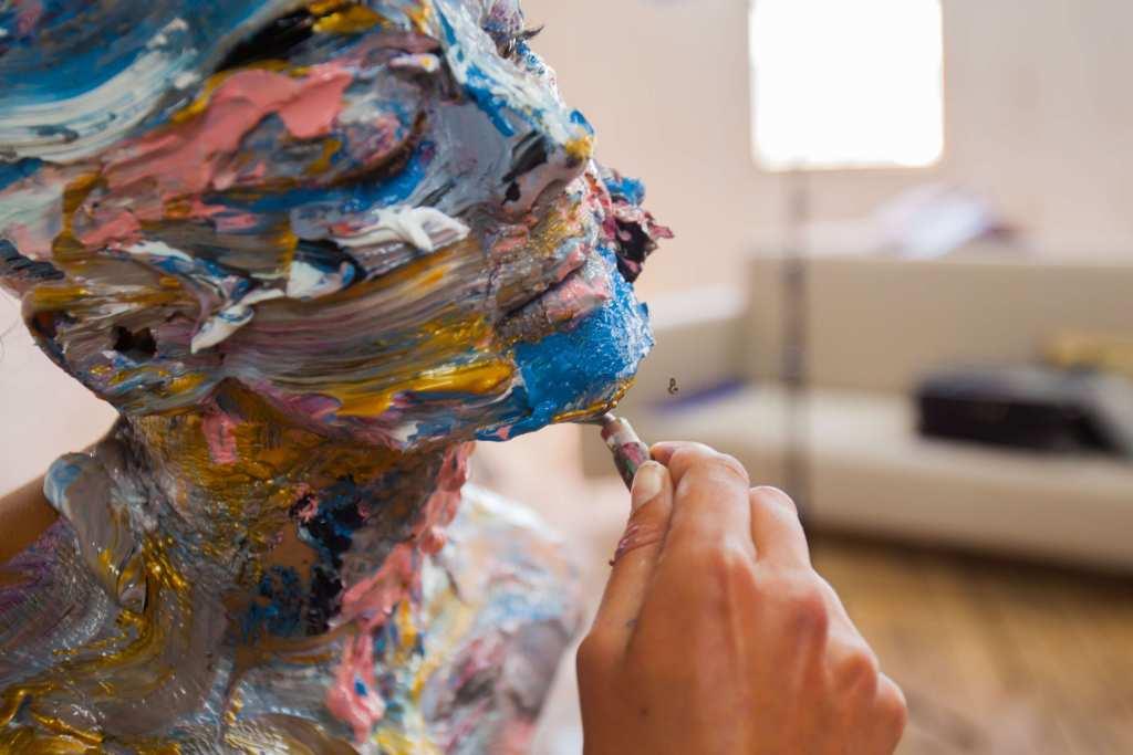 Lorraine Van Wyk artist painting