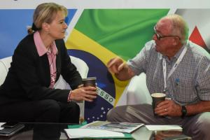 Manya Biermans (Land Bank)<br /> & Bok Erasmus (Farmer)
