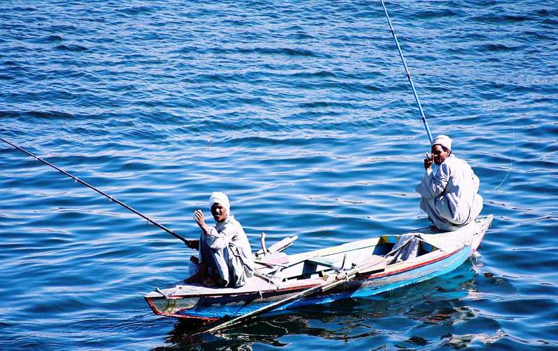 Fishing at Nile River