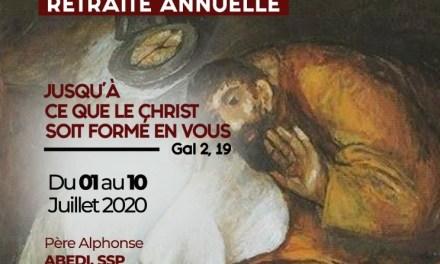 JUSQU'A CE QUE LE CHRIST SOIT FORME EN VOUS. RETRAITE ANNUELLE