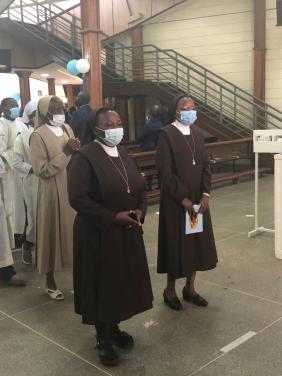 voeux soeurs Véronique à Nairobi