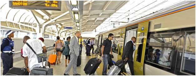 Sandton Gautrain Station in Johannesburg, South Africa.
