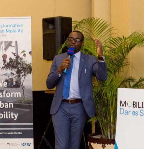 Kitwe Mayor Kang'ombe speaks at MOBILIZE Dar es Salaam.